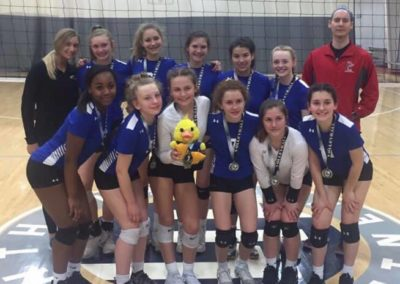 13UA 1st Place Volley in the House 14s