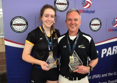 Coach Joey Fitz & 14s MVP Julia McLendon